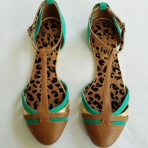 Jessica Simpson Ankle Strap Flat Shoes 9.5